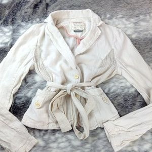 Anthropologie Cartonnier Cream Size 10 Blazer
